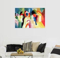 Posterlounge Wandbild   August Macke »Frau Mit Gelber Jacke« Jetzt  Bestellen Unter: Https://moebel.ladendirekt.de/dekoration/bilder Und Rahmen/ Bilder/?uidu003d ...
