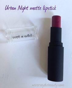 Wet 'n Wild matte lipstick, Urban Night, deep red-purple wine #wetnwildbeauty #lipstick #mattelipstick via neversaydiebeauty.com