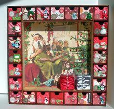 Christmas Advent Calendar - Countdown Calendar - Wooden Christmas Decorations