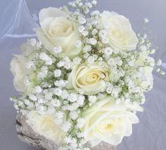 Rose and gypsophila handtied bouquet