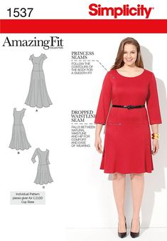 Simplicity Creative Group - Misses' and Plus Size Amazing Fit Dress: