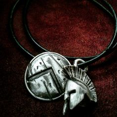 Spartan battle armory pendant made from by GeoartSilversmith