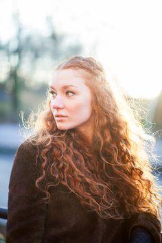 Vinterporträtt på Hanna.