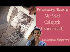 How To Make a Collagraph (Line Style) using mat board, without a Press - Belinda DelPesco This is a more in-depth review (13 mins) of the steps involved to prepare, cut and ink/wipe a mat board collagraph.  I also demonstrate the different results with two types of printmaking paper, each printed by hand with Akua Ink and a spoon.