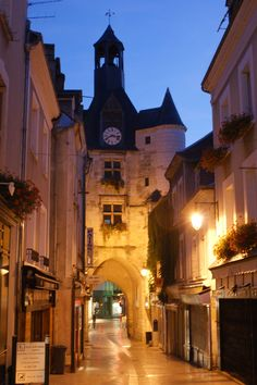 Amboise Clock Gateway Loire Valley France. This is where my great grandmother was from.