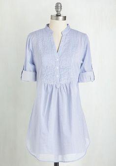 MAGAZINE CLOTHING CO., INC. Back Road Ramble Tunic in Blue Stripes