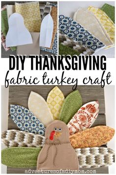 Make This Adorable Diy Turkey Wall Plaque For Your Home Decor. Utilizing An Eclectic Mix Of Fabrics For The Tail Feathers And Some Weathered Shiplap For The Base, You Can Create A Fun And Whimsical Decoration Perfect For The Thanksgiving Season. Thanksgiving Crafts, Thanksgiving Decorations, Fall Crafts, Holiday Crafts, Crafts For Kids, Home Decor Fabric, Fabric Crafts, Scrap Fabric, Fall Sewing