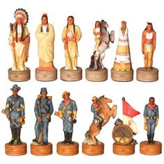 Buffalo Soldiers Chess Set