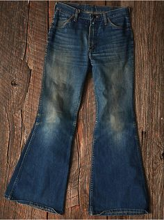 Free People Vintage 1970s Flare Jeans, $298.00