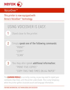 voice activated copy machine
