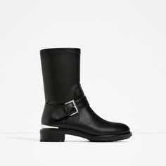 Image 2 of BIKER BOOTS WITH STRETCH LEG from Zara