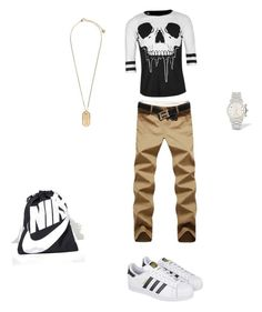 """✌🏼️✌🏼"" by delilahstutz ❤ liked on Polyvore featuring Iron Fist, adidas, Versace, NIKE, men's fashion and menswear"