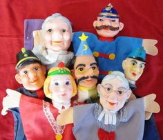 7 Vintage Hand Puppets by Artsefrtse