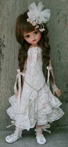 Art doll by Lorella Falconi Dolls Bjd Dolls, Doll Toys, Girl Dolls, Barbie Dolls, Pretty Dolls, Cute Dolls, Beautiful Dolls, Little Doll, Child Doll
