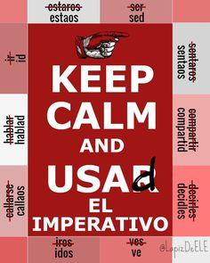 Por el uso correcto del Imperativo en español.  #Infographics #spanish #imperativo