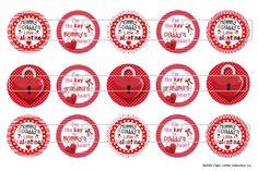 Little Valentine 1 Digital Download for 1 Bottle Caps by MaddieZee