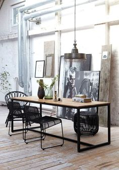 Industrial decor style is perfect for any interior. An industrial office is always a good idea. See more excellent decor tips here: http://www.pinterest.com/vintageinstyle/