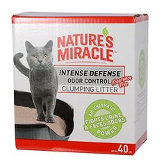 Nature's Miracle Intense Defense Odor Control Clumping Litter 40 lb