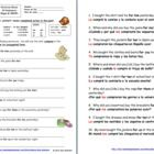 Spanish Preterit with City, Clothing and Indirect Object Pronouns by Sue Summers - 10 English to Spanish sentence translations  with regular verbs and adverbs of time such as yesterday and last night.