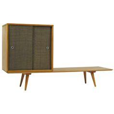 2 Piece Paul McCobb Platform and Cabinet at 1stdibs