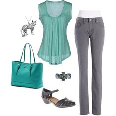 DYT Type 2 Simple Turquoise and Gray, Work Casual