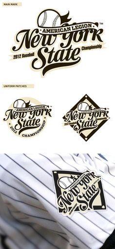 American Legion New York State Baseball Logo by Mark Brooks