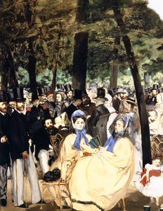 Édouard Manet: Music in the Tuileries Gardens (detail) 1862 Oil on canvas, 76 x 118 cm National Gallery, London Edouard Manet Paintings, Francisco Goya, Still Life Photography, Wedding Photography, Pierre Auguste Renoir, Camille Pissarro, Post Impressionism, Paul Cezanne, Mark Rothko
