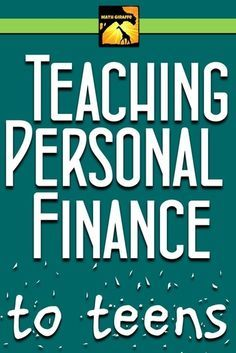 """Teaching Personal Finance to Teens -- tons of tips for teaching consumer math including how to set up a big """"Financial Day"""" plus  a free download of a Financial Literacy Vocabulary crossword..."""
