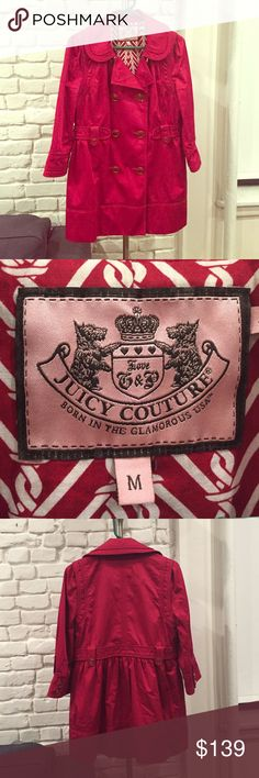 Red juicy couture jacket size M Red juicy couture jacket. Size medium. Great condition. Beautifully lined and great button details. Perfect for fall! Juicy Couture Jackets & Coats