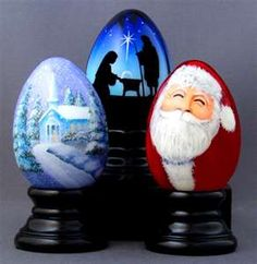 hand painted Christmas eggs