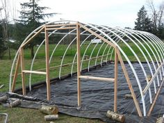 These DIY Greenhouse plans make owning a greenhouse a snap. Grow countless plants in your own self-built greenhouse with this guide to building the perfect structure for your needs! Diy Greenhouse Plans, Simple Greenhouse, Build A Greenhouse, Indoor Greenhouse, Greenhouse Gardening, Greenhouse Benches, Serre Pvc, Cold Frame, Diy Garden Projects