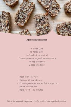 Tasty low-sugar apple oatmeal bites can be enjoyed by all from babies to big kids! Perfect for school lunches or afternoon tea. Oatmeal Bites, Apple Oatmeal, Tea Snacks, Low Sugar Snacks, Hawaii Travel, Thailand Travel, Italy Travel, Epicure Recipes, Tea Recipes