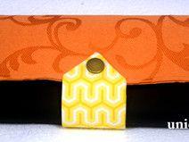 Geldbörse - orange/schwarz/gelb