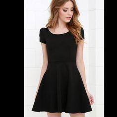 7d874d1e50 Black Skater Dress From Lush Skater Dress Outfits