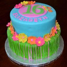 luau decorations   sweet boutique bakery hinsdale luau cake hawaii party