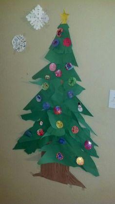 Christmas tree wall craft