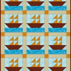 Sew a Cute Sailboats Quilt for Baby: About the Sailboats Baby Quilt