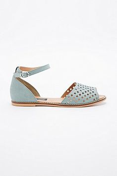 Deena & Ozzy Janie Ankle Strap Flat Shoes in Mint - Urban Outfitters