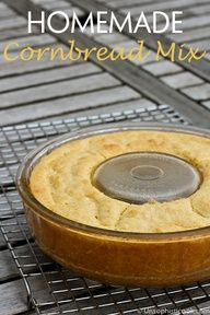 Homemade Cornbread Mix Recipe. I made this today and it is a great recipe for sweet cornbread!
