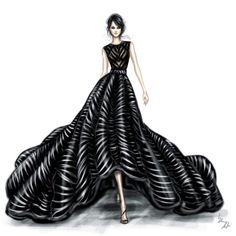 Fashion illustration - fashion design sketch // Shamekh Bluwi