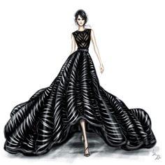 Fashion illustration - fashion design sketch // Shamekh Bluwi