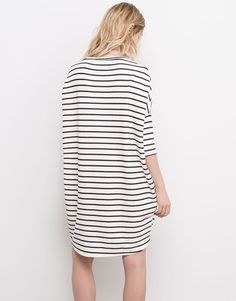 RIBBED STRIPED DRESS - DRESSES - WOMAN - PULL&BEAR Spain