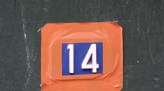 No. 14, 4e - Love taping up the number!