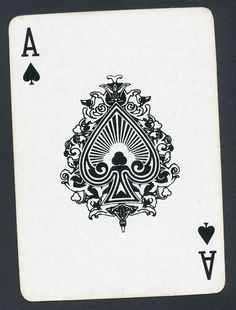 Maritime Museum of San Diego ship playing card single ace of spades - 1 card