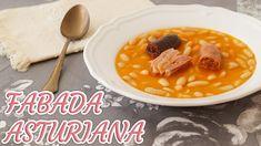 Aprende a preparar FABADA ASTURIANA tradicional y riquísima - YouTube Gazpacho, Chorizo, Chana Masala, Cheeseburger Chowder, Cantaloupe, Soup, Fruit, Ethnic Recipes, Youtube