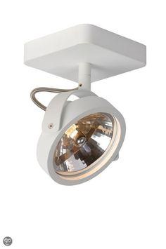 Zuiver Opbouw Plafond Spot Dice - 1 spot - Wit voor bij kastwand kleedkamer