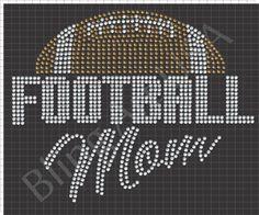 Football Mom Rhinestone Design Template Download