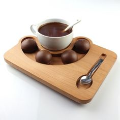 Wooden Coffee Presentation 19cm
