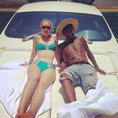 Pin for Later: The Best Celebrity Vacation Pictures From 2014!  Iggy Azalea showed us just how fancy she can get when she went yachting with Nick Young in a bikini.