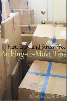 4 quick and easy DIY steps to help you pack up a whole house for moving day!